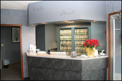 photo of our reception desk inside the practice