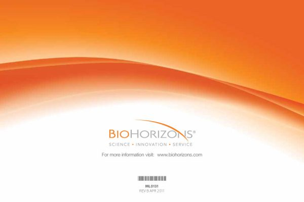 an image with an orange swirl and the biohorizons logo beneath it